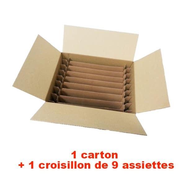 cartons pour assiettes idéal pour les déménagements