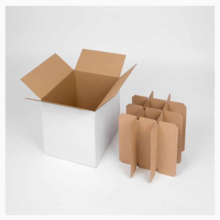 Carton de déménagement pour 12 bouteilles