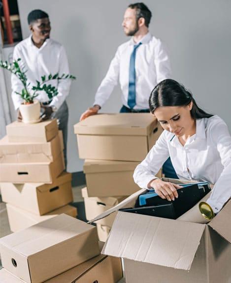 stocker les affaires pendant un déménagement professionnel