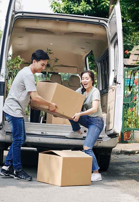 Les véhicules utilitaires sont très utiles dans le cas d'un déménagement