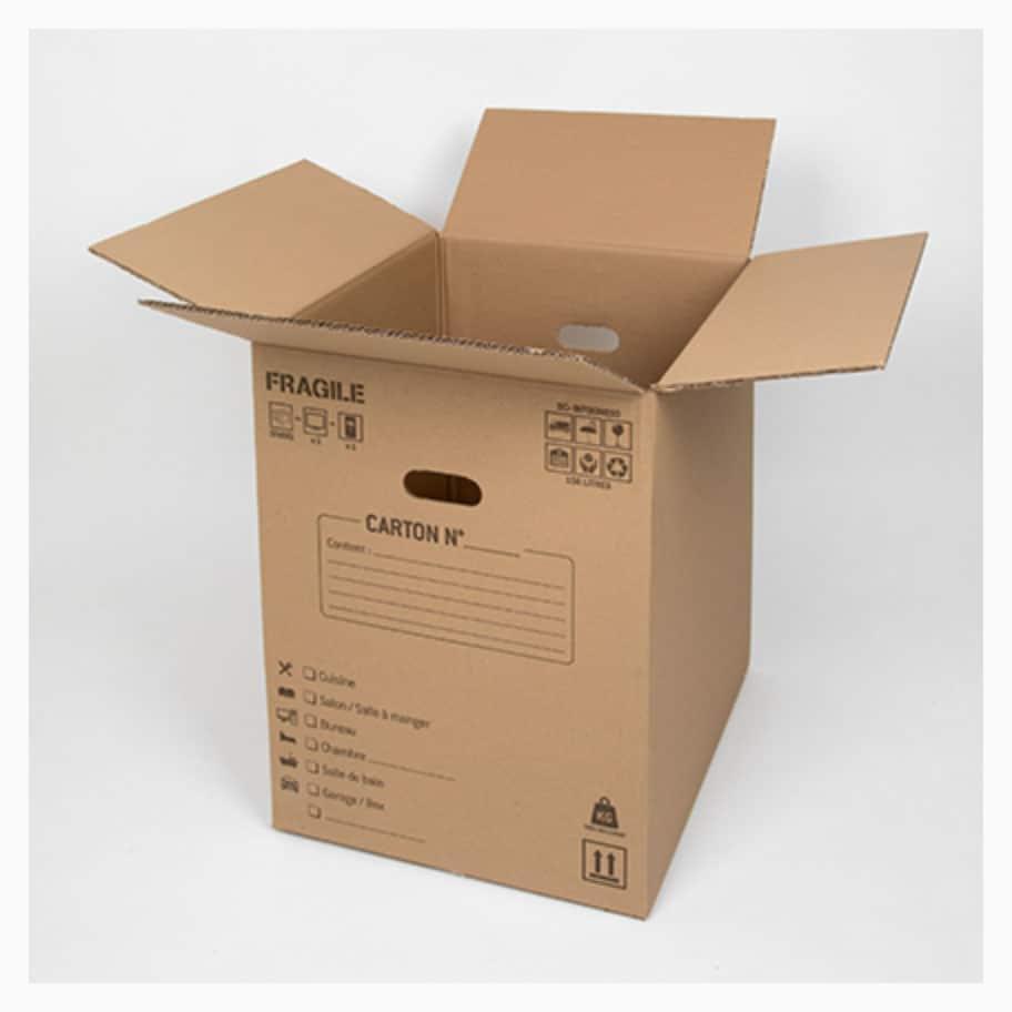 carton de déménagement pour le matériel informatique
