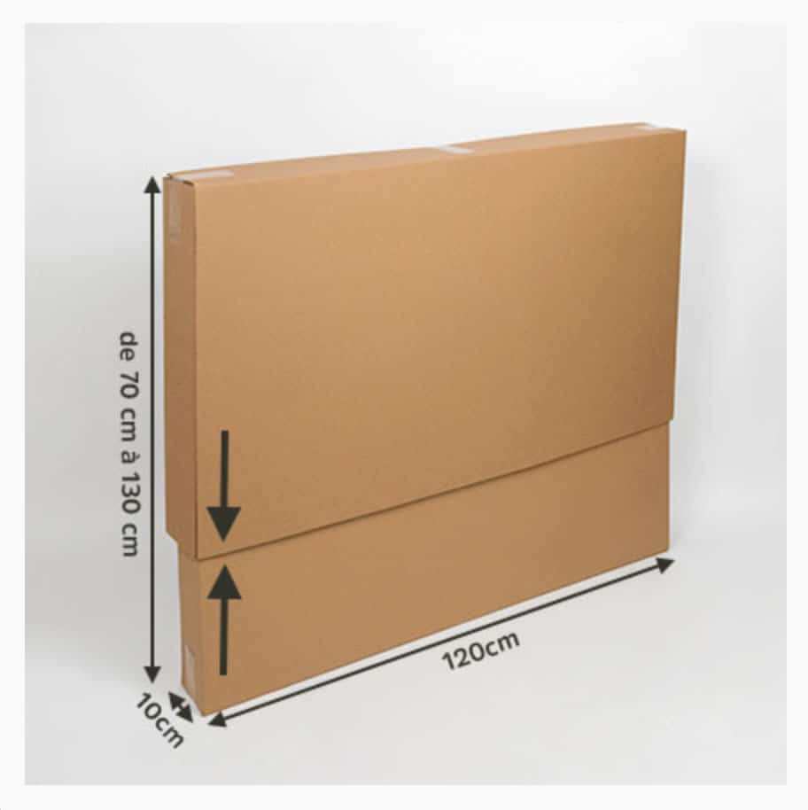 carton de déménagement télescopique pour télévision, miroir, tableau...